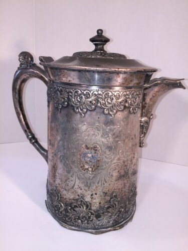 Rare Antique Artifact: Forbes Silver Co. Quadruple 419, Bath Toilet Pitcher Jug