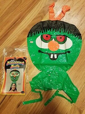 Vtg '79 Giant Blow-UP HALLOWEEN COSTUME Haunting Hats Retro NEW in Orig Bag RARE