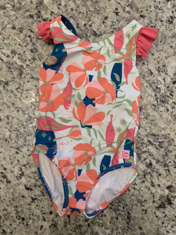 RuffleButts Toddler Girl Ruffle Strap One Piece Swimsuit 3T Floral