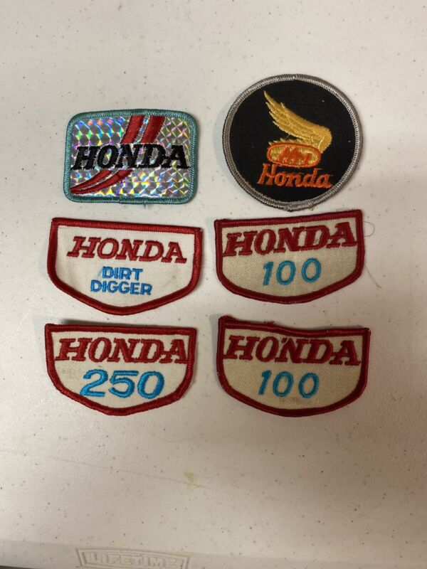 Lot of 6 Vintage Honda Motorcycle Jacket or Hat Patches