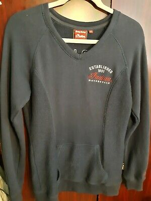 Vintage Small Indian Motorcycle Embroidered Sweater Very Good Condition
