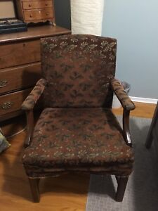 Vintage Armchair- solid construction with wood frame