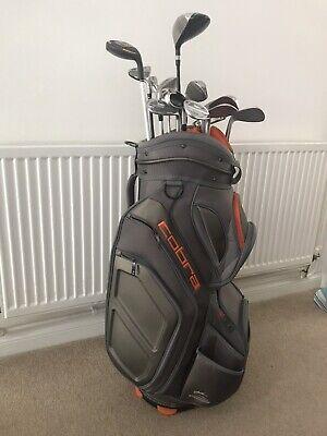 golf clubs + Bag. Wilson Deep Red Irons, Nike 3W, Mizuno Wedges, Adams Hybrid...