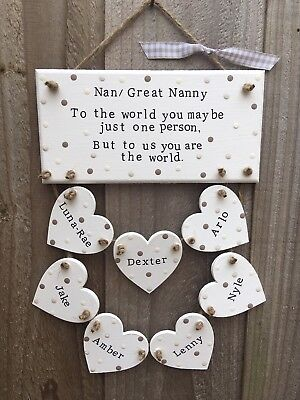 Personalised Nanny Grandma Grandparent Plaque Sign Gift Present ()