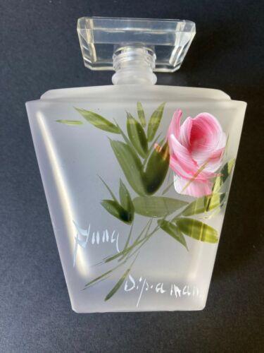 Vtg Puntoarte Hand Painted & Signed New Perfume Bottle w/Label
