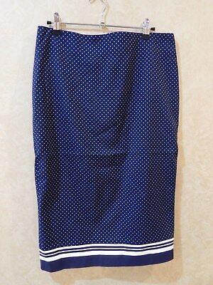 Navy And White Polka Dot Skirt (Women's Jones New York Skirt Navy and White Polka Dot Size 6 NWT _________)