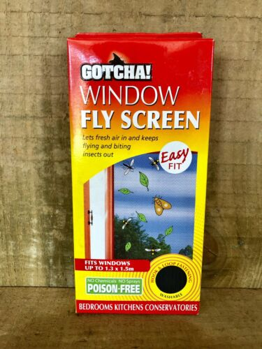 GOTCHA WINDOW FLY SCREEN 1.3M X 1.5M INSECT PEST CONTROL POSION FREE HOME