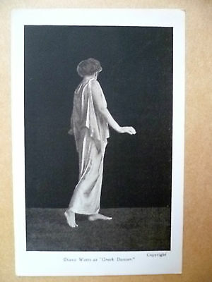 Postcard- Theater Actresses DIANA WATTS as Greek Dancer (Copyright)