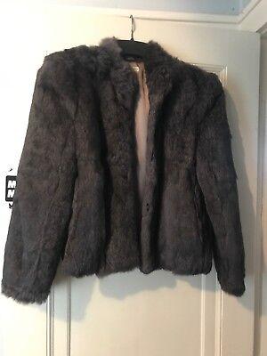 Used, Vintage 1980s Rabbit Fur Jacket Ladies  Medium Good Condition for sale  Schenectady
