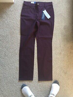 atelier gardeur quality stretch ladies Burgundy jeans Size 12