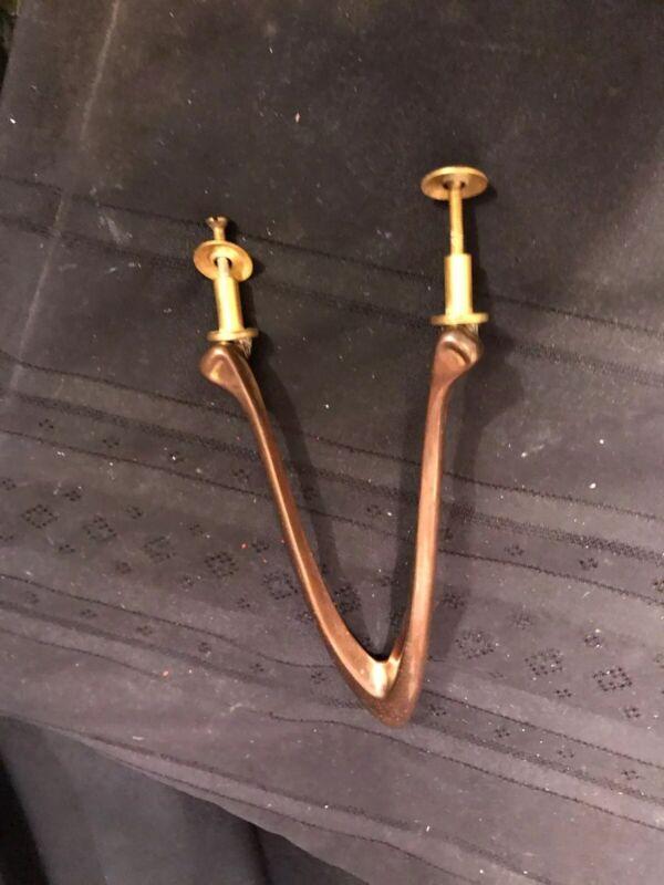 "Vintage RARE Brass "" WISHBONE ""Door Knocker  Very Unique. (Make A Wish)"