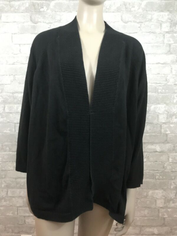 Old Navy Maternity XL Black Knit 3/4 Sleeve Cardigan