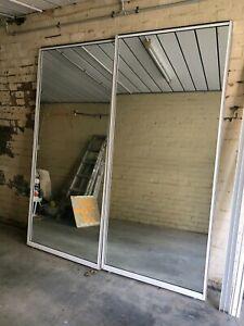 Sliding wardrobe mirror doors