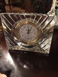 Howard Miller Alarm Clock, Table Bed Side optical crystal  No. 4RE998