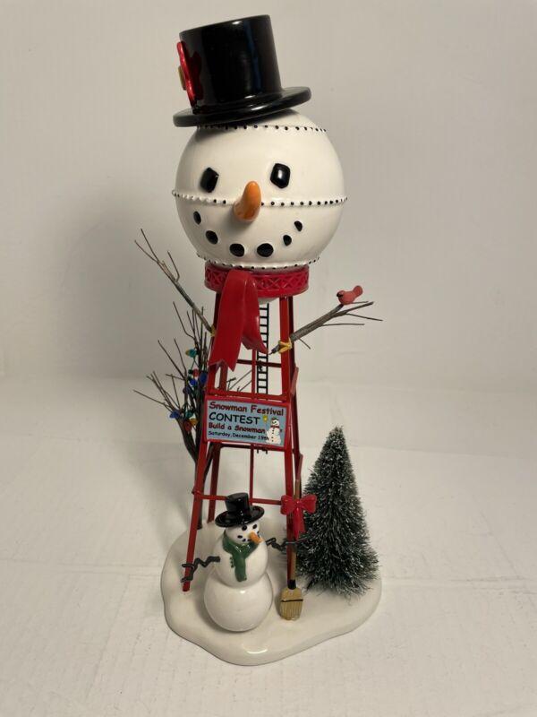 Dept. 56 Snowman Watertower #800013N Village Accessories Snowman Festival