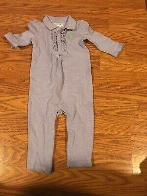 Ralph Lauren Baby Girls Size 9 Months Rugby  Lavender One Piece