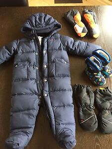 Polo snowsuit & bogs