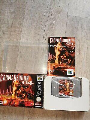 150 weitere Games N64 SNES GAMEBOY hier: CARMAGEDDON für N64 in OVP und BOXED
