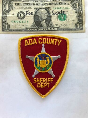 Ada County Idaho Police Patch Sheriff Dept. Un-sewn in great shape