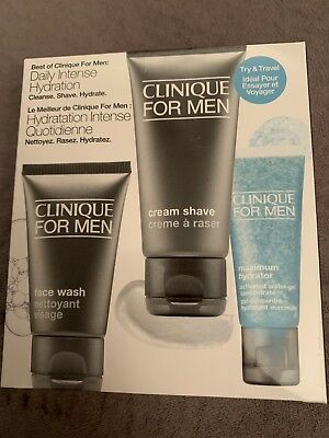 Best Of Clinique For Men, Daily Intense Hydration Face Wash, Cream Shave