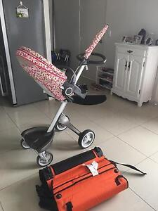 Stokke Xplory Chassis & Seat Black Melange 2014 + umberalla + Stroller Concord Canada Bay Area Preview