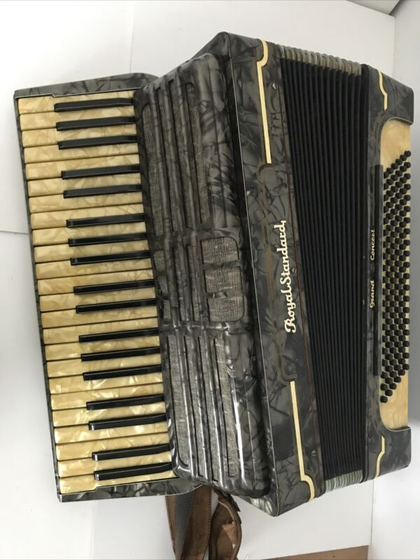 Vintage Royal Standard Piano Accordion -41 Key, 120 Bass - Working But Needs TLC