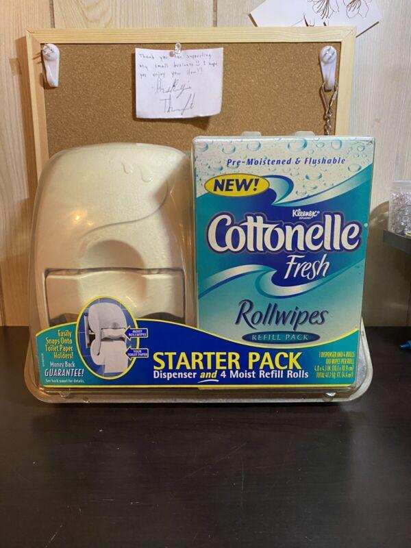 NOS Kleenex Cottonelle Starter Pack Fresh Rollwipes Dispenser and 400 Wipes