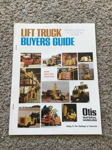 1970s  Otis material handling, lift truck buyers guide.