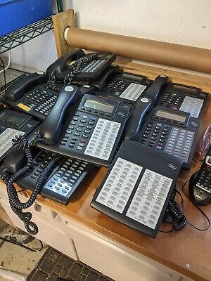 Set Of 10 Esi Comm. 48-key H-dfp Office Phones Plus Digital Cordless Unit