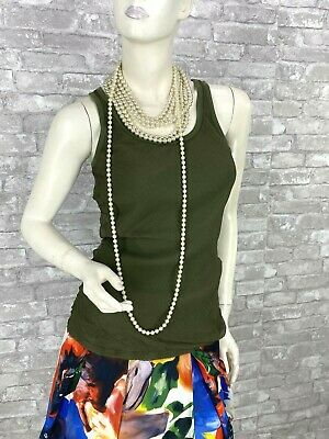 Alexander McQueen Green Stretch Cotton Blouse Dress Top 8 US 44 IT M Runway Auth