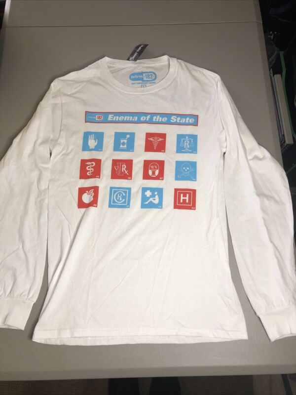 Blink 182 Enema Of The State 20th Anniversary Long Sleeve Shirt. Size Small