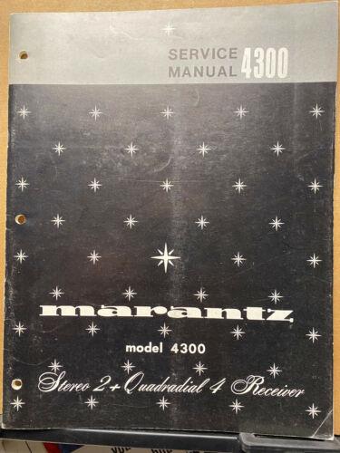 Original Service Manual for the Marantz 4300 Receiver ~ Repair