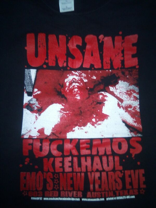 Unsane,F*** EMOS, Keel haul vintage shirt.designed by Jared Connor.