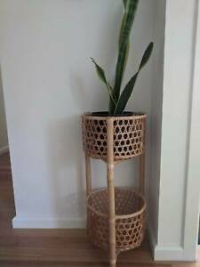 Cane / Rattan plant pot / planter stand