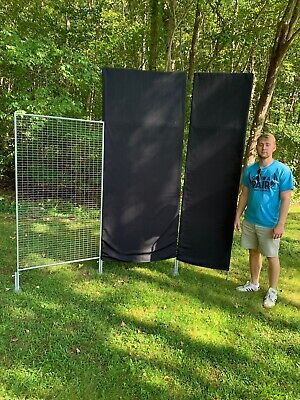 10 Graphic Display Co.system Wire Art Craft Show Wall Sections 8 Tall W Covers