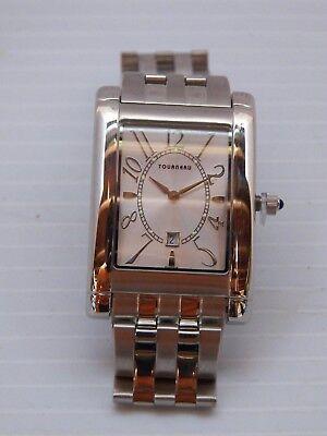 New Men's/Women's Tourneau Stainless Steel Watch w/Sapphire Capped Bezel