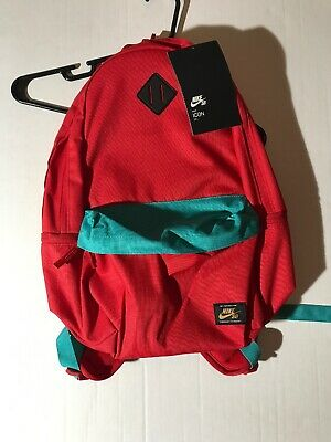 NWT Nike SB Icon Backpack BA5727-657 Skateboarding Red Teal Blue Green 26L RPM