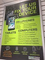 LET US FIX YOUR DEVICE - Cellphones, Laptops & Tablets.