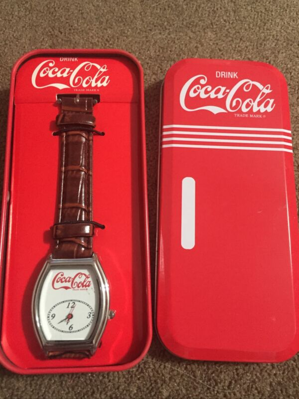 Coca Cola Watch New In Red Coca-Cola Tin