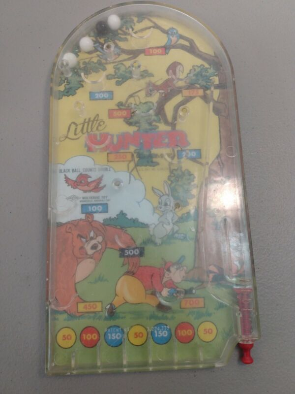 Vintage Pinball Marble Game LITTLE HUNTER GAME Wolverine No. 144  Toy USA