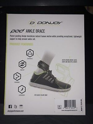 DonJoy Performance Ankle Brace Pod LARGE Right Foot Prevent SPRAINS INSTABILITY