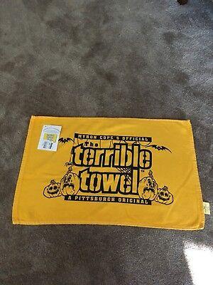 2011 Pittsburgh Steelers Halloween Terrible Towel McArthur vintage NWT