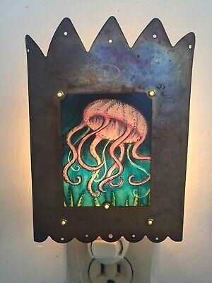 "Bella Luz Studio Night Light Jellyfish 6""x4"""