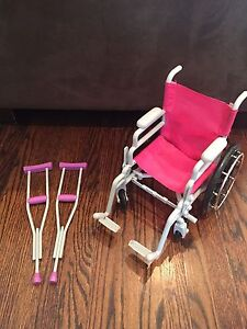 Wheel Chair and Crutches Set for American Girl Dolls