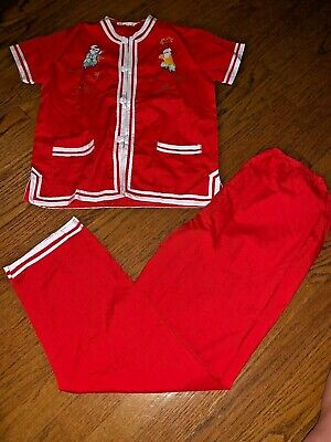 Buttercup Shantou China CHINESE NEW YEAR Pants Suit Outfit RED Size 14 ❤️tw4j2](Buttercup Outfit)