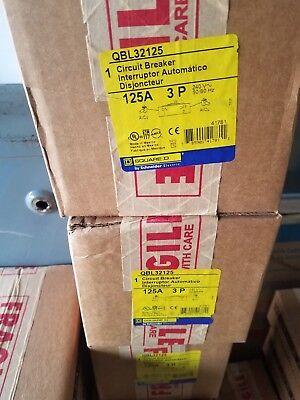 New Square D Qbl32125 Powerpact Q Qb 125 Circuit Breaker 125a240vac3-pole