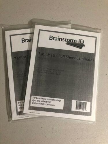*50 Sheets* 7 Mil Matte Full Sheet Laminates Brainstorm ID