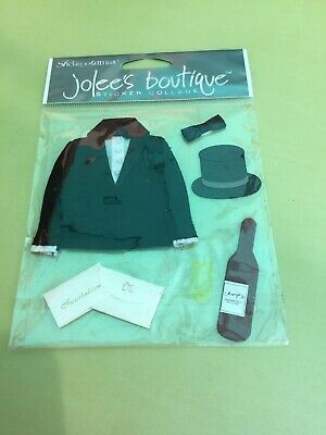 Black Tie Event Groom Invitation Champagne Top Hat Bowtie Jolee's 3D Stickers Black Tie Wedding Invitations