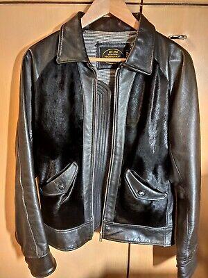 Neighborhood Japan Black Grizzly Leather Jacket Size Medium