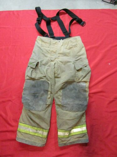 38 x 30  Cairns REAXTION Firefighter Pants W Suspenders Bunker Turnout Fire Gear